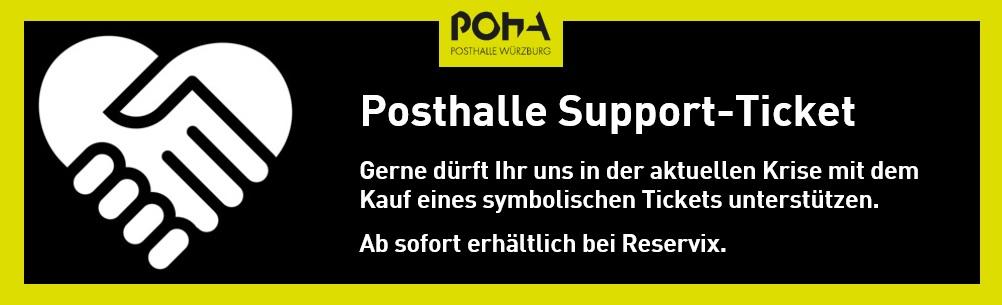 Posthalle: Symbolisches Support-Ticket ab sofort erhältlich