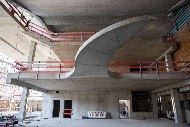 Mainfranken Theater: Rohbau für Erweiterung fertiggestellt