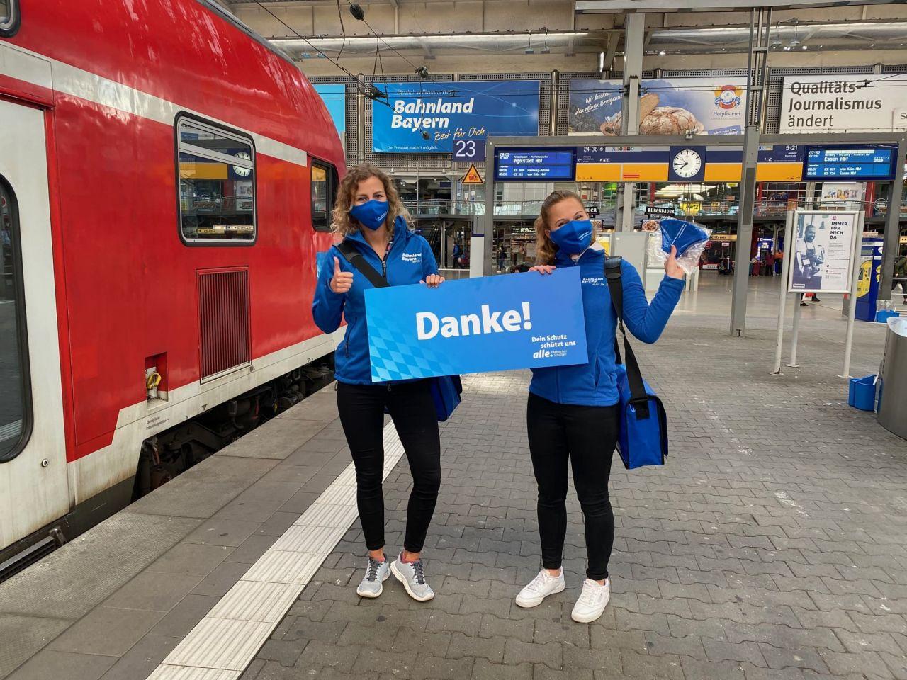 100.000 Masken für das Bahnland-Bayern