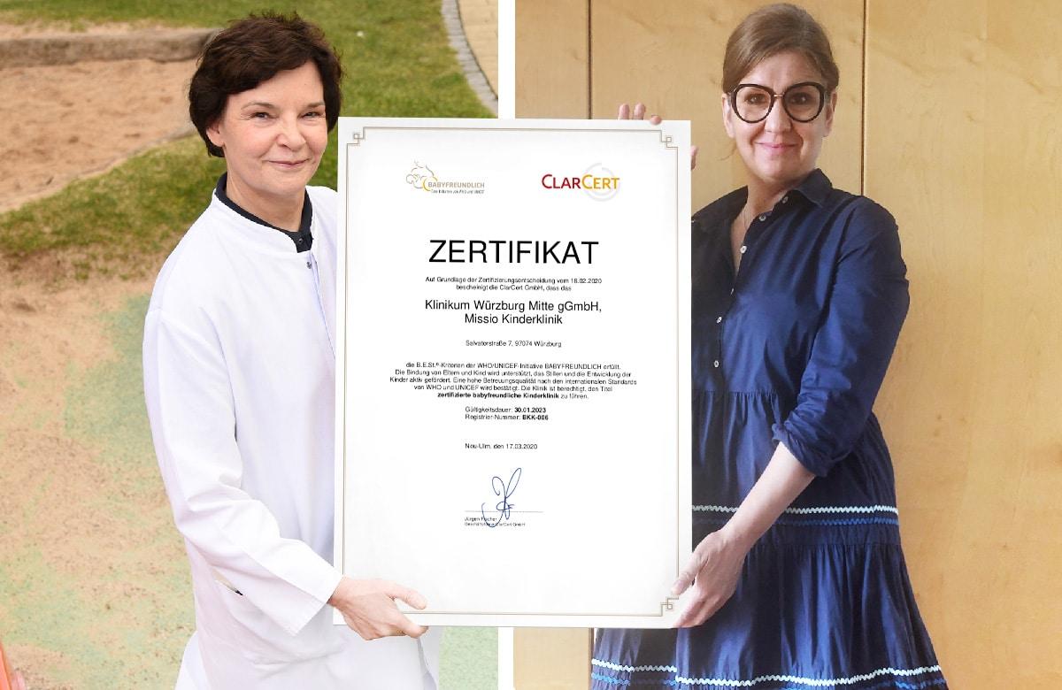 """Missio Kinderklinik ist erste """"Babyfreundliche Kinderklinik"""" in Bayern"""