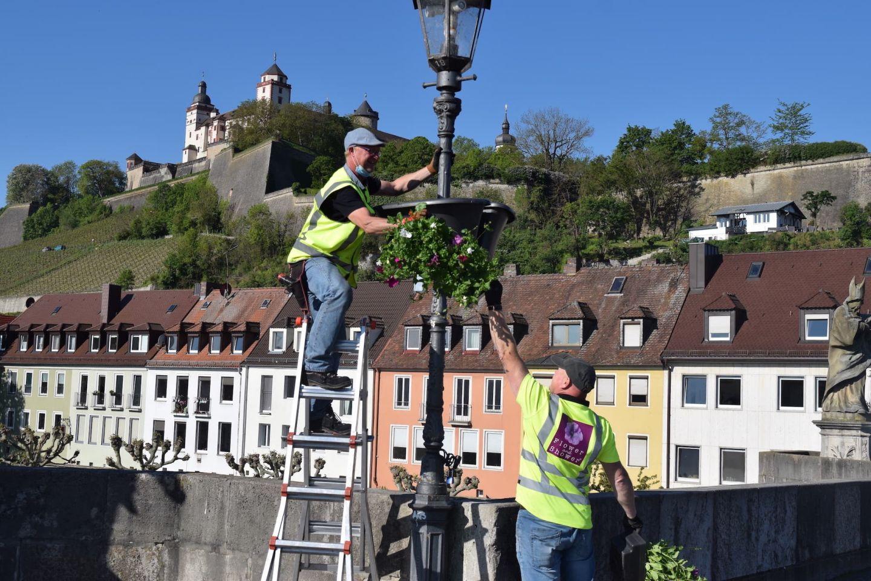 """Flower Baskets 2020: """"Würzburg macht Spaß"""" sucht Blumenpaten"""