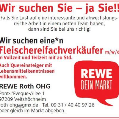 REWE Veitshoechheim Fleischereifachverkaeufer