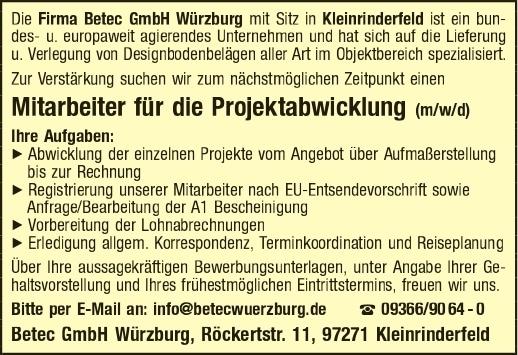 BETEC GmbH Würzburg