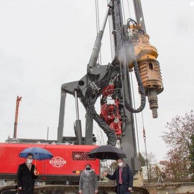 Siligmüllerbrücke Bauarbeiten