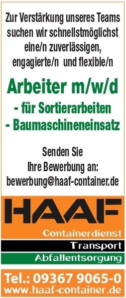 Stellenportal Haaf Containerdienst