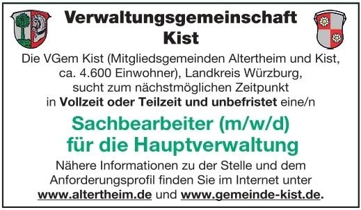 Verwaltungsgemeinschaft Kist Sachbearbeiter