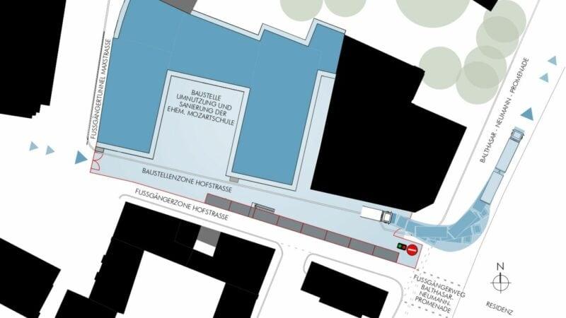 Baustelle Mozartschule Hufeisen