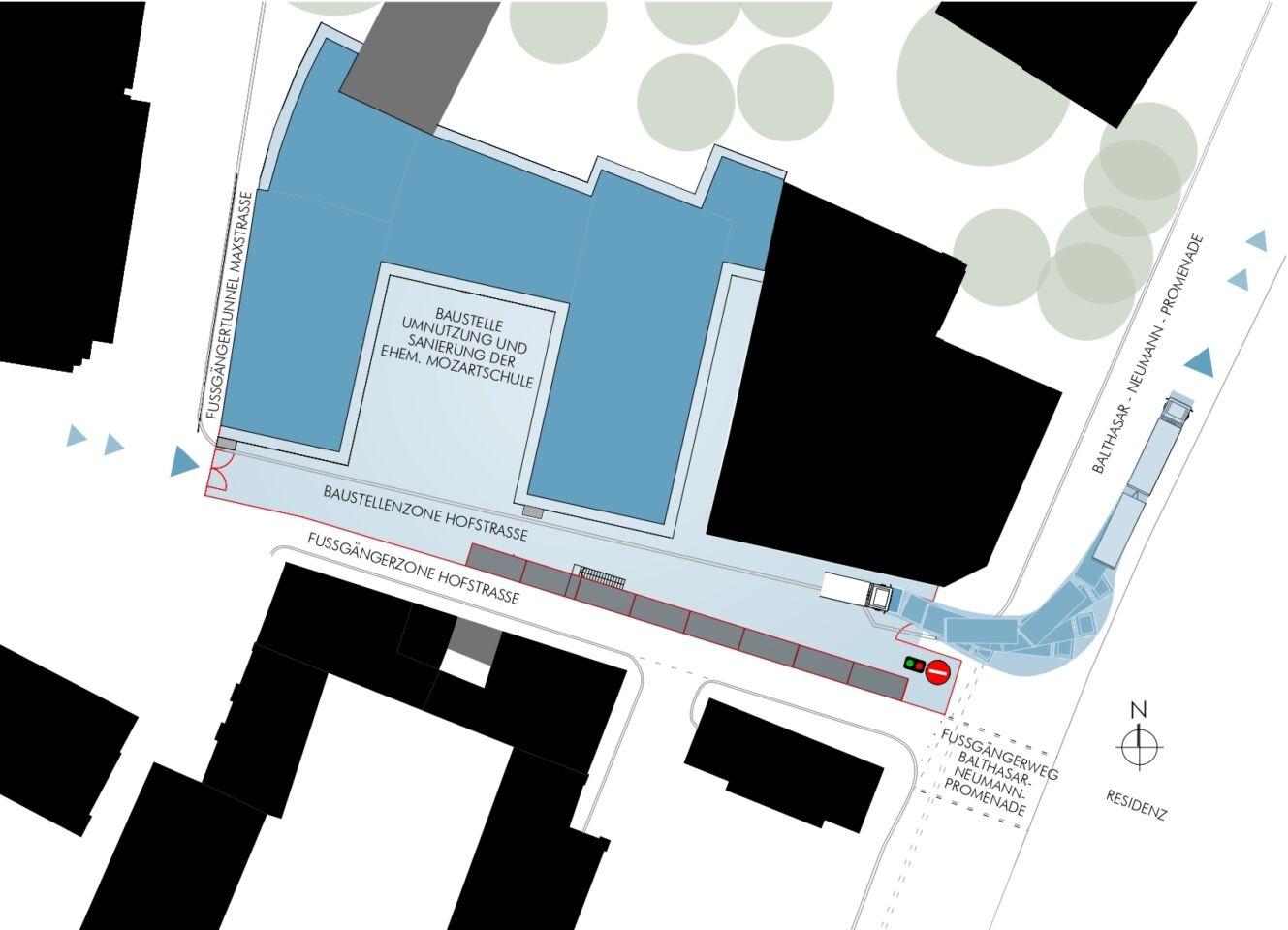 Mozartschule: Hufeisen wird umgebaut