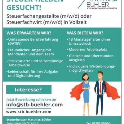 Steuerberater Matthias Bühler