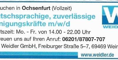 Ochsenfurt Reinigungskräfte
