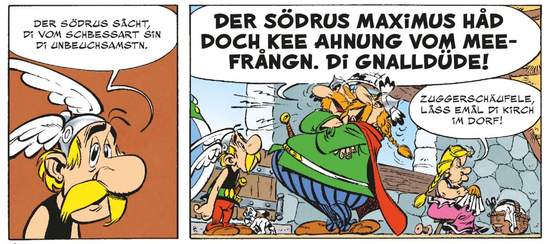 "Ab heute im Handel: ""Asterix un di Schbessart-Räuber"""