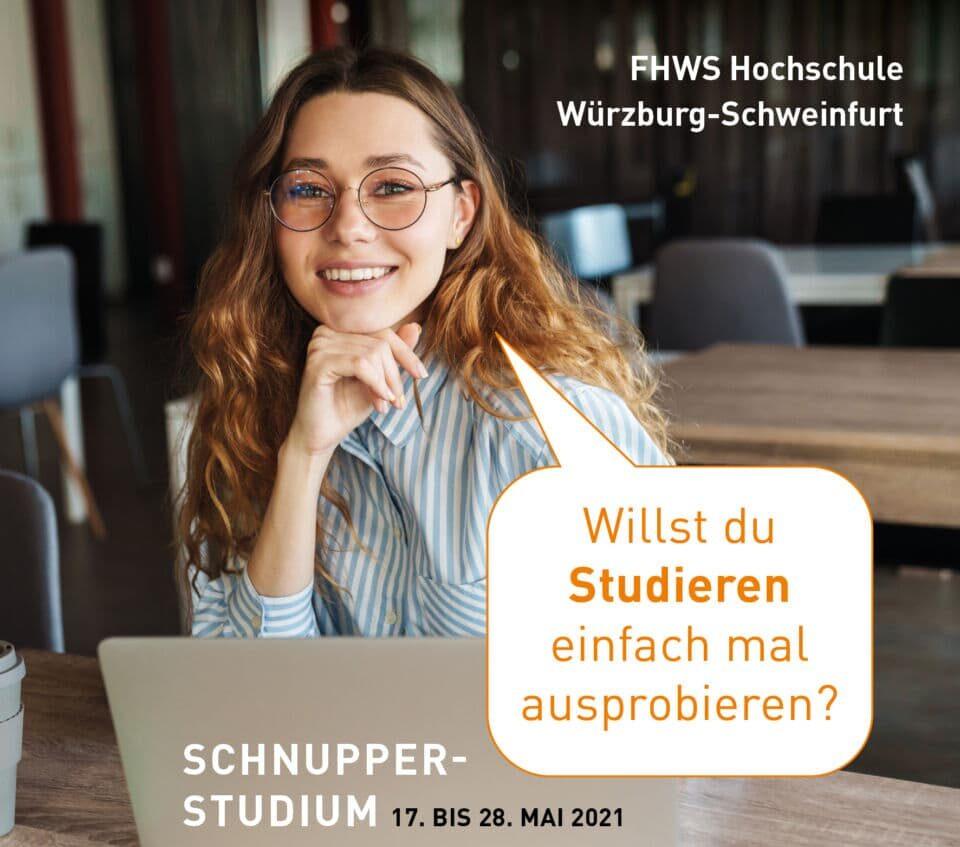 Studieren probieren: Online-Schnupperstudium an der FHWS
