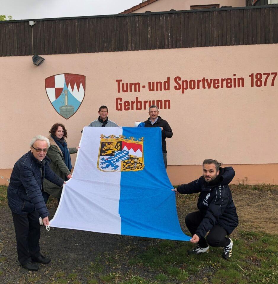Bayernfahne für den TSV Gerbrunn