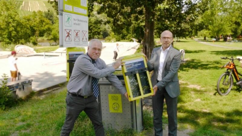 Mainwiesen-Würzburg-Müll-Zigarettenstummel