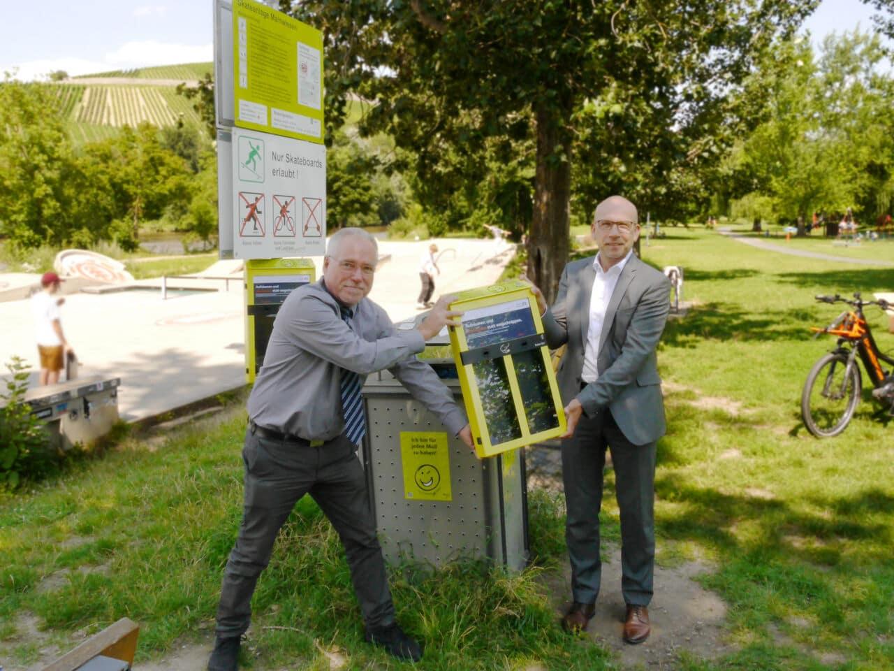 Für weniger Kippen und Müll auf den Mainwiesen in Würzburg