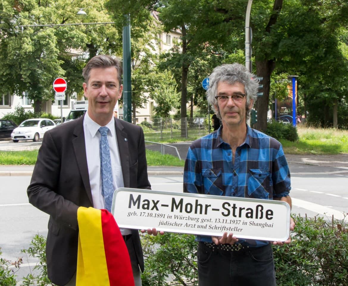"""Neue Max-Mohr-Straße in Würzburg: """"Akt der Wiedergutmachung"""""""