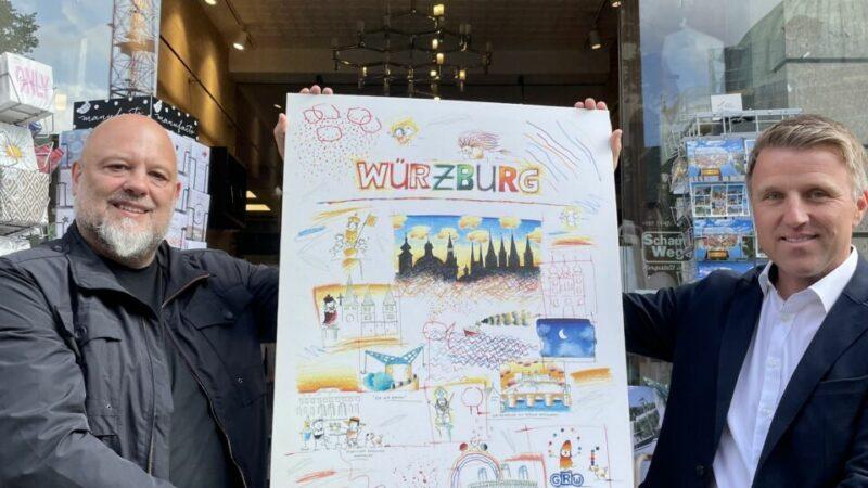 Messerangriff-Würzburg-Plakat