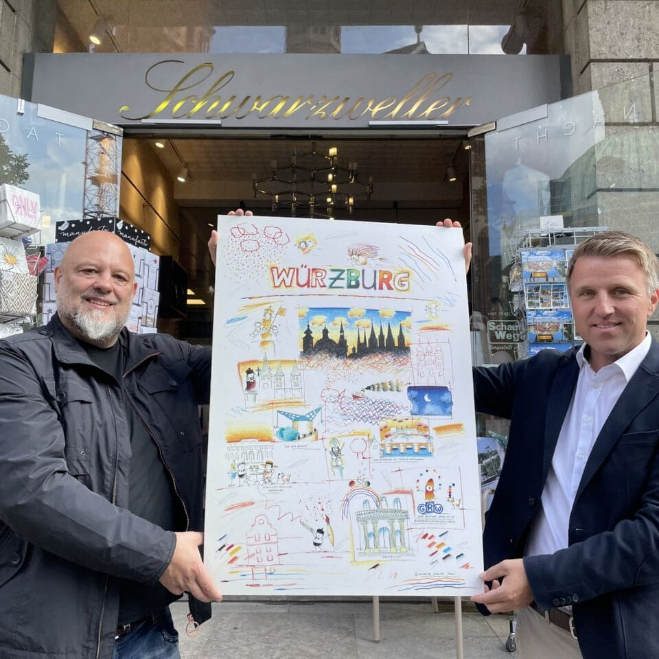 Messerangriff in Würzburg: Poster soll das Leid lindern