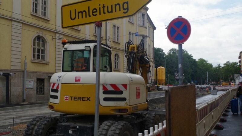 Baustelle-Straßenbahn-Sanderring