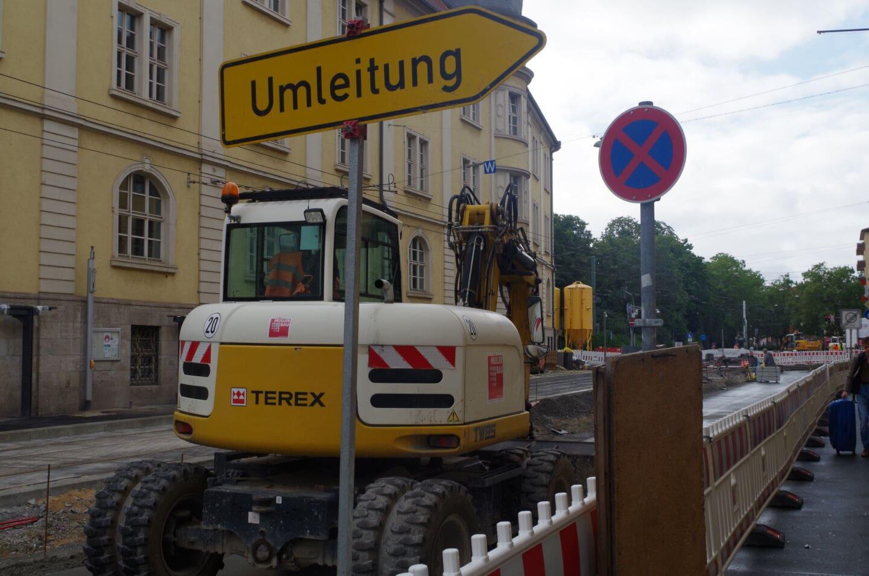 Baustelle Sanderring: Phase 2 beginnt