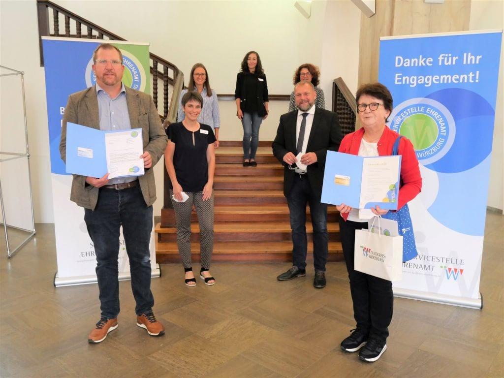 Ehrenamtskarte des Landkreises Würzburg verliehen